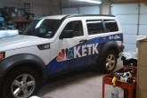 suv wrap for news van
