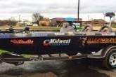 Bass fishing boat sponsor stickers