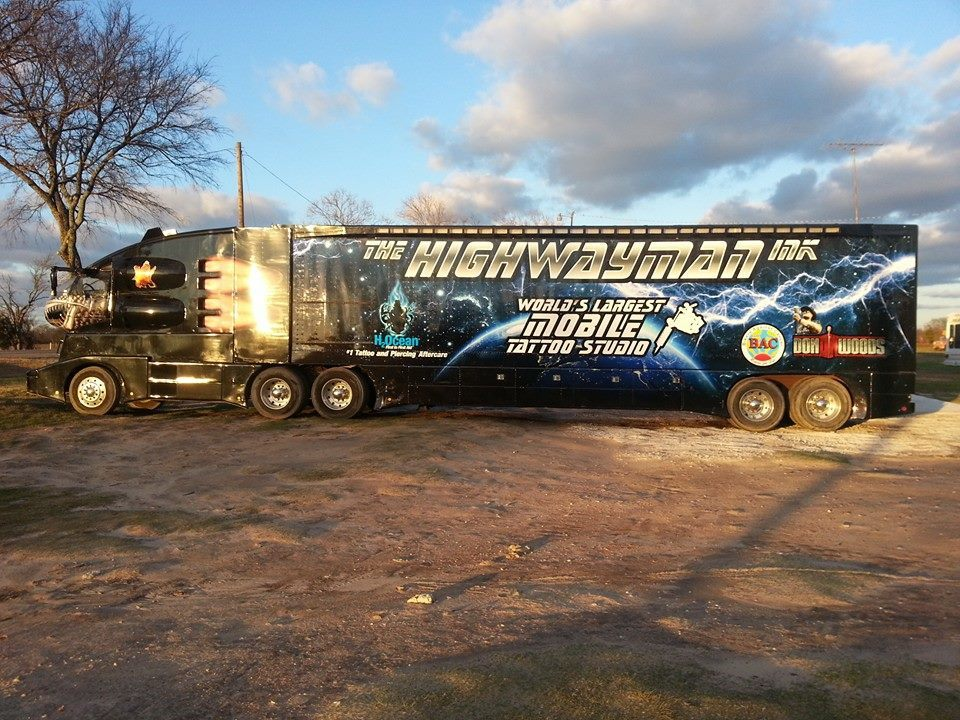 The Highwayman Ink Truck – Our largest vehicle wrap to date