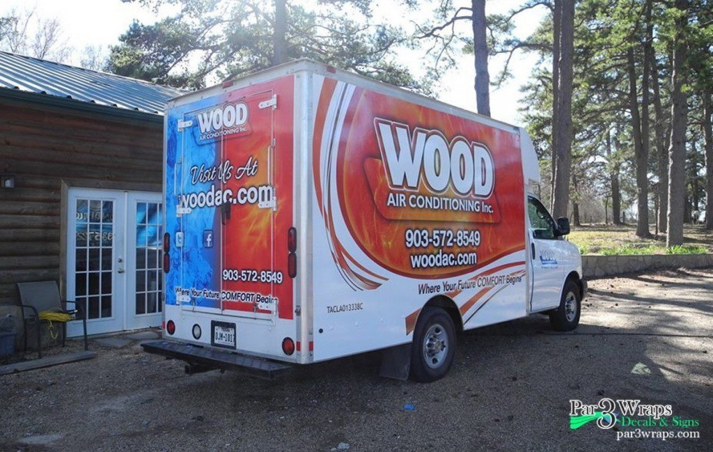 5 Van Wraps done for Wood Air Conditioning Fleet