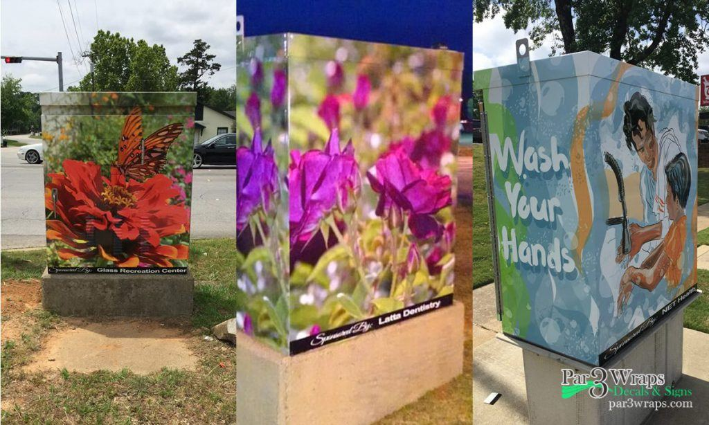 Utility Box Wraps for City of Tyler
