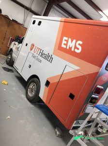 ambulance wrap fleet wrap graphics texas
