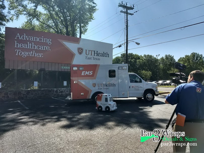 Par 3 helps out with Ambulance Rebrand for UT Health
