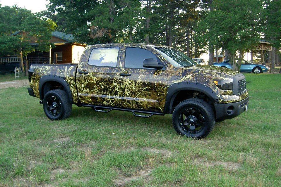 Hunting Camo Truck Par 3 Wraps