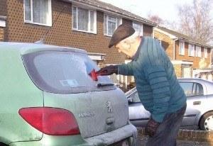 scrape ice