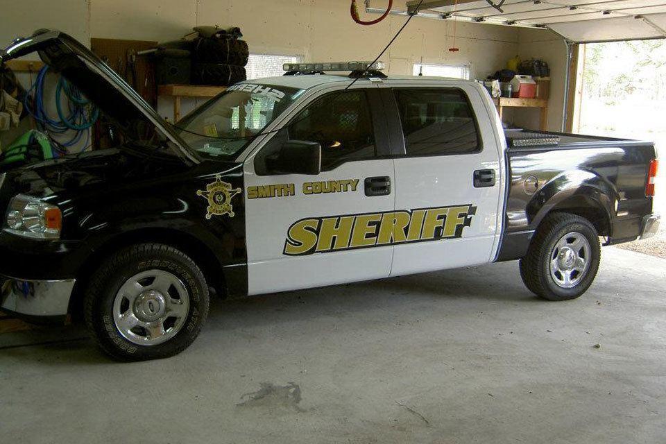Sheriff Pickup Vinyl Wrap Lettering After Par 3 Wraps