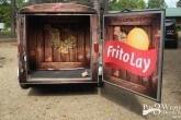 trailer and door vinyl wrap promotional vehicle