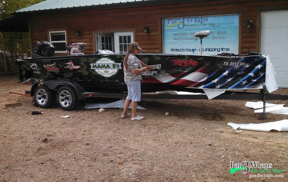 Vinyl Wrap Cost >> Vinyl Boat Graphics for Fishing Boats In Tyler, TX - Par 3 ...